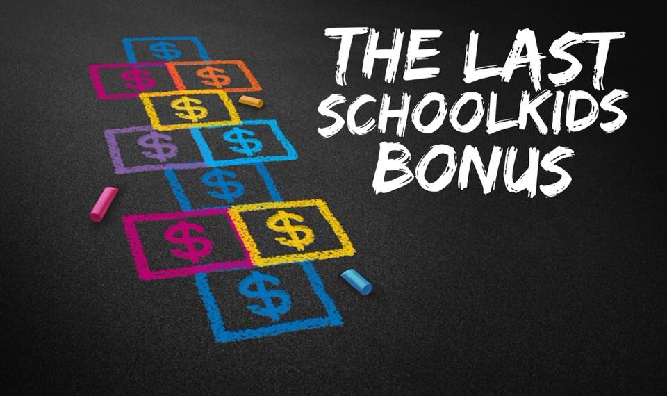 2016 School Kids Bonus - Part 2 - Photo source: Bigstock.com
