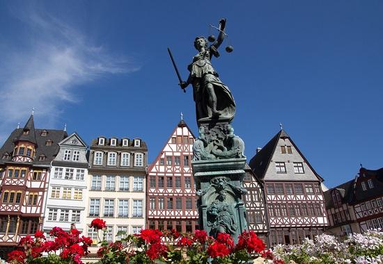 Single parent holidays to Frankfurt - stock photo