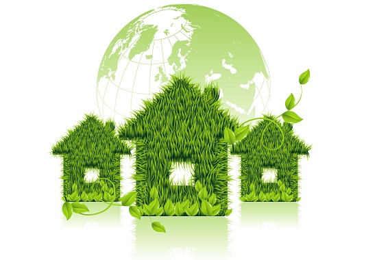 How to Make Your Home Green and Healthy - stock photo