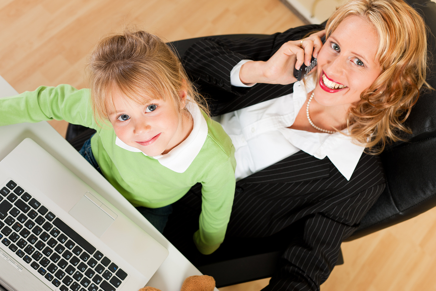 Single parents starting up a home business