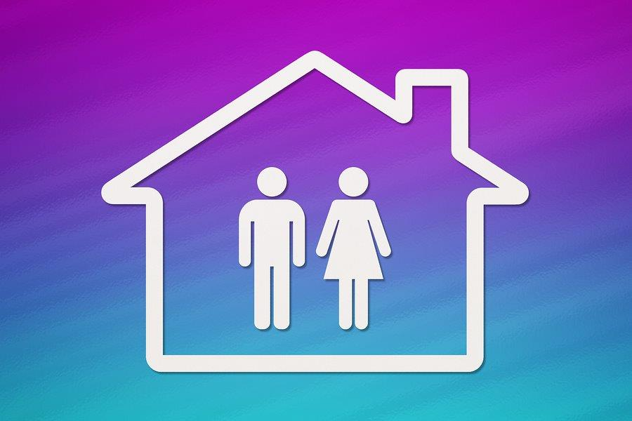 Two parents under the same roof - stock photo source: Bigstock.com