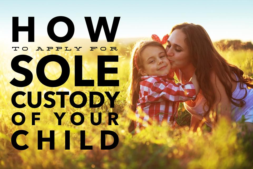 How to seek sole custody of your child