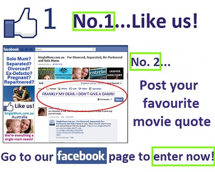 Go to our SingleMum.com.au Facebook Page to enter!