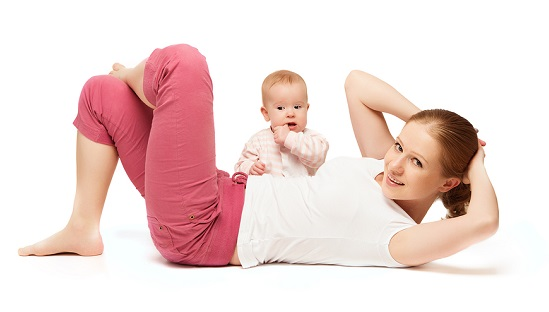 Mother And Baby Gymnastics, Yoga Exercises