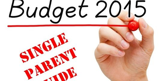 Hand writing Budget 2015 with marker on transparent wipe board.