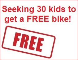 Seeking 30 Sydney kids for free bikes