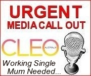 URGENT - CLEO - WORKING SINGLE MUM NEEDED