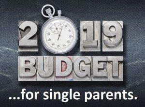 2019 Budget for single parents