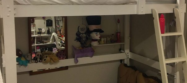Miranda made her daughter a loft bed - from scratch!
