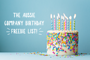 The Aussie company birthday freebie list