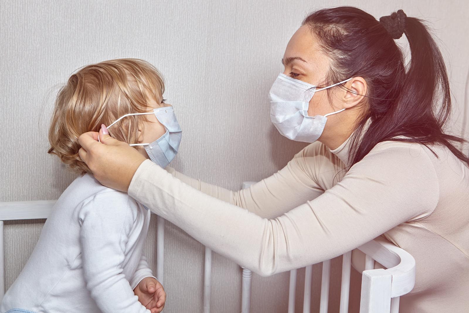Coronavirus mother and child