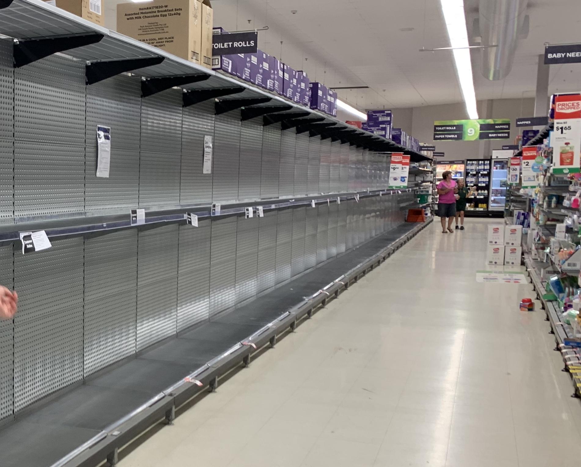 Australian toilet paper shortage due to Coronavirus
