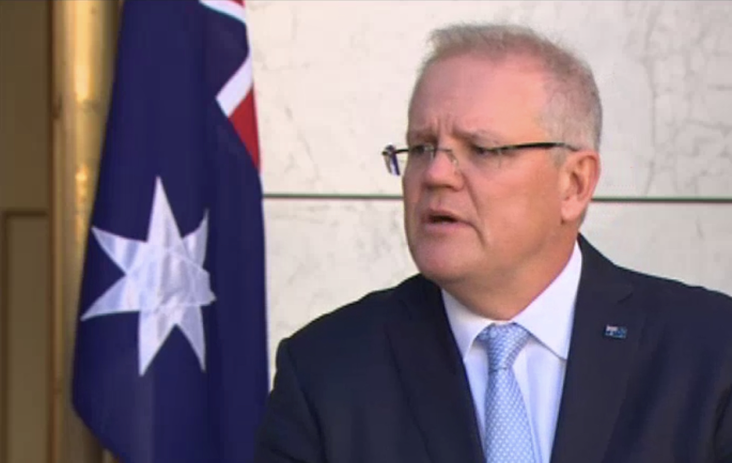 Prime Minister Scott Morrison announces Jobseeker Reductions at the Press Conference this morning