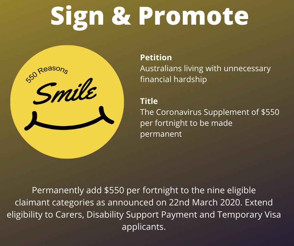 Coronavirus Supplement petition