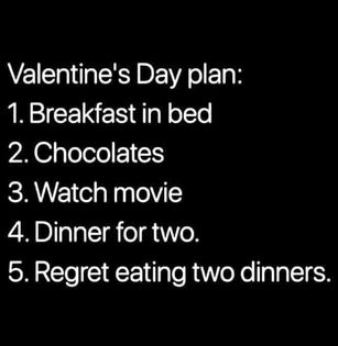 To do list on Valentines Day