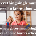 The new government single parent home buyers scheme