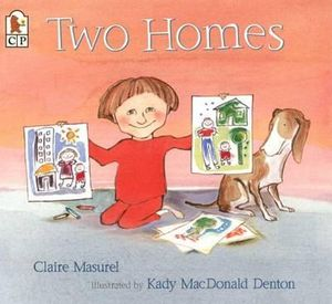 Two Homes single mum family story book
