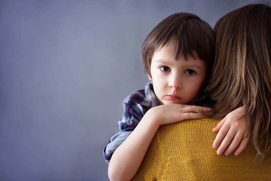 Small joint custody upset boy - Photo credit: Bigstock.com