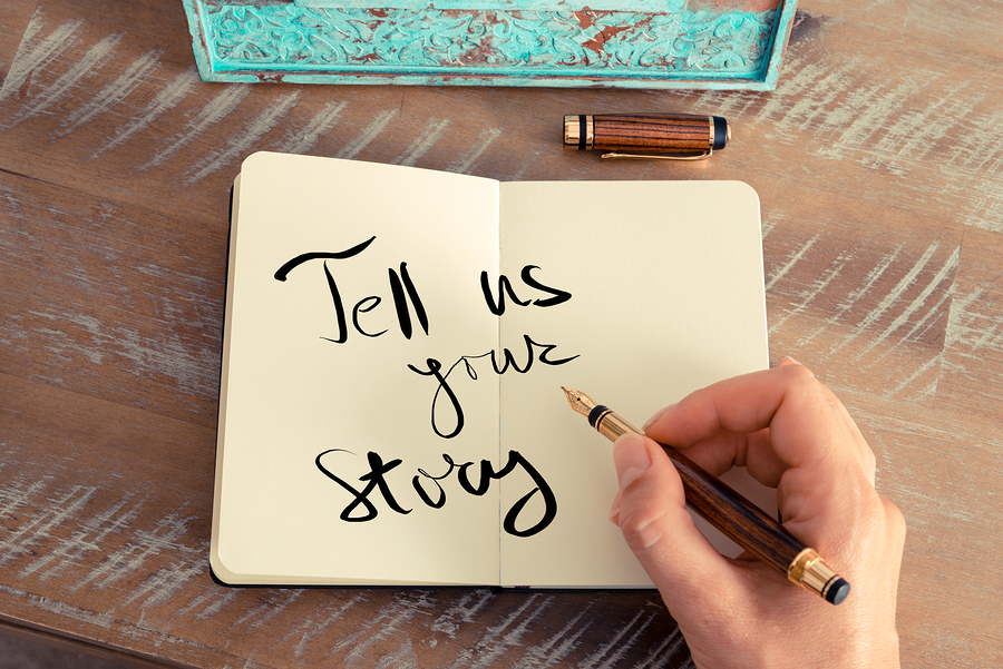 Tell us your story - Photo credit: Bigstock.com