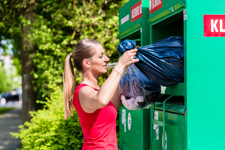 Throw away your old clothes - photo credit: Bigstock.com
